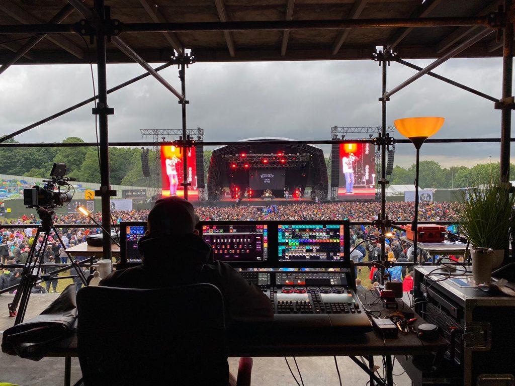 MA Lighting grandMA3 en el Download Rock Festival